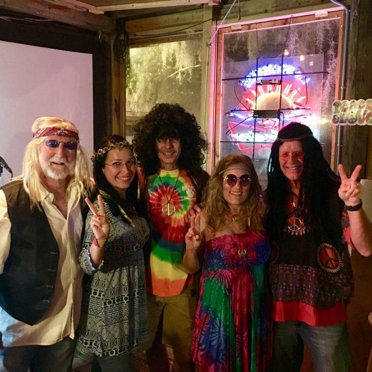 Hippies enjoying Hippie Night at LJ Schooners Oyster Bar