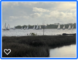 Many Sailboats sailing during the Wednesday Night Fun Race from LJ Schooners in Rocky Bayou